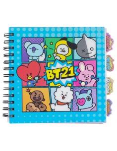 Cuaderno BT21 marcapaginas